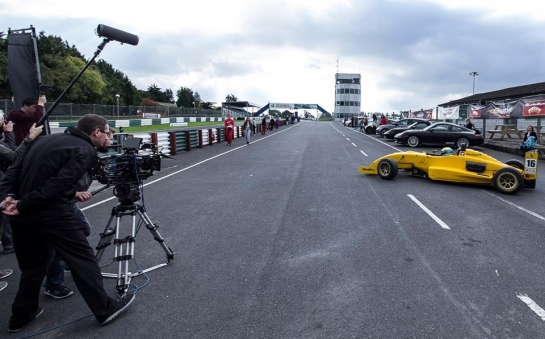 "Filming at Mondello Park for ""Inside I'm Racing"", a movie about a young autistic boy fascinated with Motorsport."